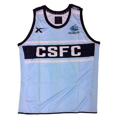 X Blades Cronulla Sharks Training Singlet [Sky/black] - X-Large