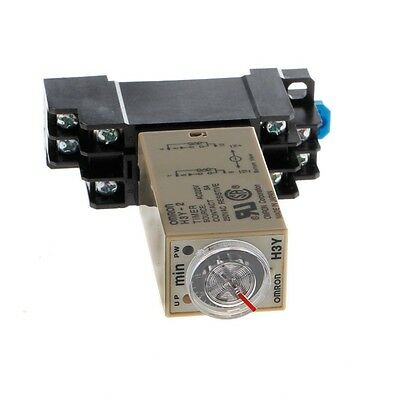 AC 220V Power H3Y-2 On Time Delay Relay Solid State Timer 1.0~30 Min Socket Base