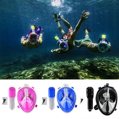 Full Face Snorkeling Mask Dry Snorkel Scuba Diving Scuba Goggle Masks for Breath