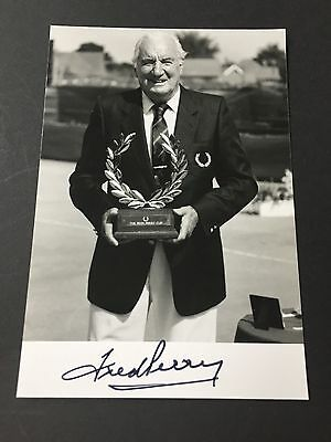 FRED PERRY († 1995)  Tennis Legende  In-person signed Autogrammkarte 10x15  RAR