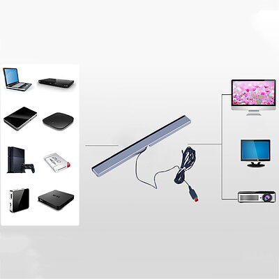 New Wired Infrared IR Signal Ray Sensor Bar/Receiver for Nitendo Wii Remote A@