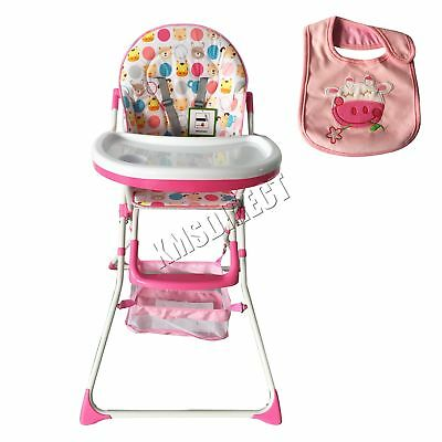 FoxHunter Portable Baby High Chair Infant Child Folding Feeding Seat Pink BHC02