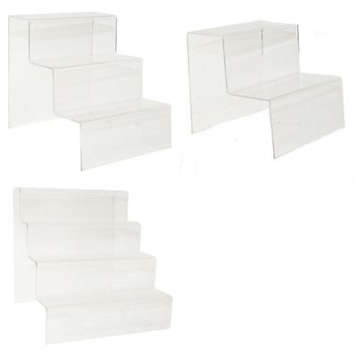 Shoe Display Stand 2, 3 or 4 Step Transparent Acrylic Collection Only