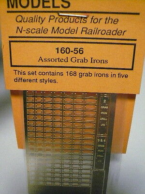 "Gold Medal Models ""N"" Assort. grab irons for rail cars/ locomo ""BRASS"" 160-56"