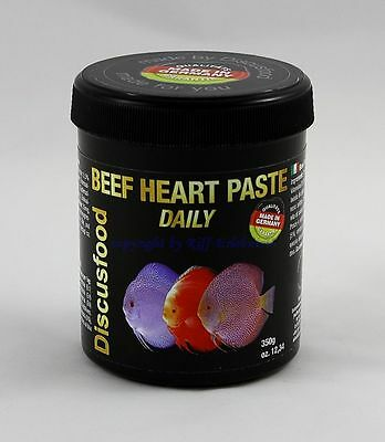 Beef Heart Paste Daily 350g Discusfood Alleinfutter für Discus 69,11€/kg