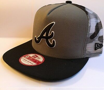 Atlanta Braves Meshed Urban Camo Trucker New Era Snapback Baseball Cap S-M