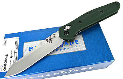 Benchmade Osborne 940 AXIS Lock Folding Knife Green Aluminum Handles New