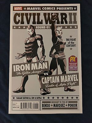 Civil War II #1 SDCC B&W Variant (Marvel, 2016) NM-MT