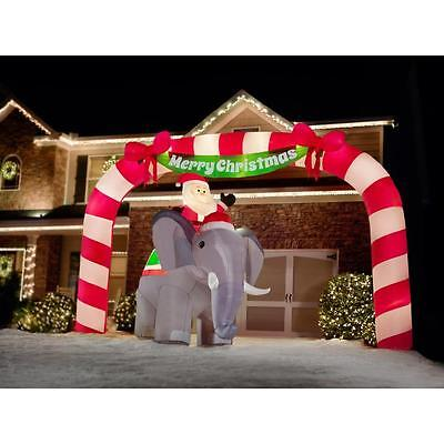 HUGE 23 Foot Wide Merry Christmas Archway Airblown Inflatable Outdoor Yard Decor