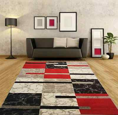 New Cheap Large Red Silver Modern Living Room Rugs Grey Hall Runners Small Rug