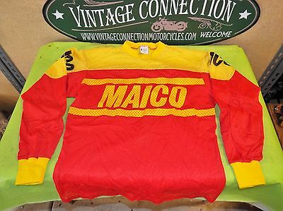 Vintage Maico Racing Mesh Jersey Authentic Malcolm Smith Men's M