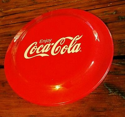 "VIntage ENJOY COCA-COLA Flying Frisbee Disc 9"" ""Made in the USA"" Humphrey Flyer"