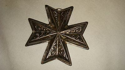 Reed & Barton Sterling Silver 1977 Christmas Cross Ornament - 5 available