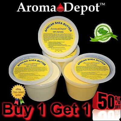 1lb Raw African Shea Butter TWO Pack Unrefined 100% Natural Pure Organic
