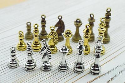 chess Hollow Antique charms,Zinc alloy pendant fit,Vintage Tibetan Silver