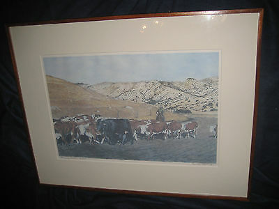 CHANGING PASTURE RONALD THOMASON 10/150 LIMITED EDITION Signed Artwork Art PRINT