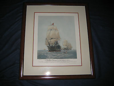 "Nautical Copy Of Antique Print - ""victory"" Unframed"