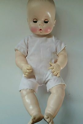 """VINTAGE EFFANBEE BABY DOLL 15 56 71 1967 17"""" tall Infant"""