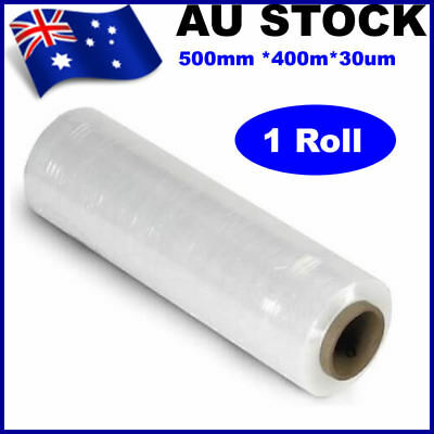 1 Roll 500mmx400mx30um Clear Stretch Film Pallet Shrink Wrap
