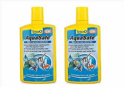 Tetra Aquasafe Tap Safe Water Conditioner Dechlorinator 2 X 500Ml
