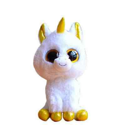 "6"" Ty Beanie Boos Big Eyes Plush Stuffed Animals Doll Pegasus White Unicorn Gift"