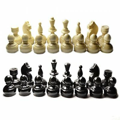 """Wooden Chess Set Pieces New 32 Handmade Chess Pieces  2.4"""" - 6 cm."""