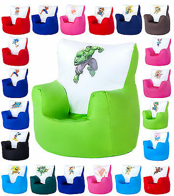 Children's Kids Character Bean Bag Arm Chairs Toddler Seat Furniture Beanbag TV