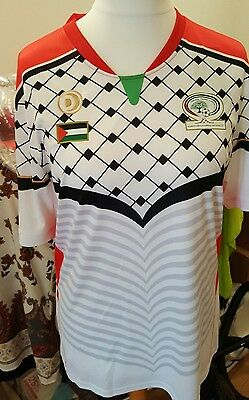 XL New Palestine Home Football jersey Shirt 2016/17 white UK seller