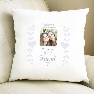 Personalised Photo Cushion Best Friends are like Stars Angels Christmas Homeware