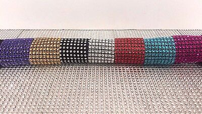 6 x DIAMANTE Mesh Napkin Rings Perfect for Christmas and Weddings *PICK COLOUR*