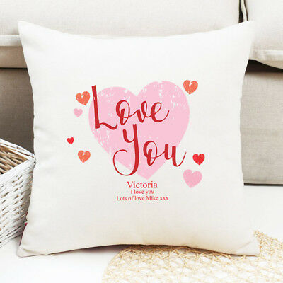 Personalised Photo Cushion Couple One I love Christmas Homeware Me to You