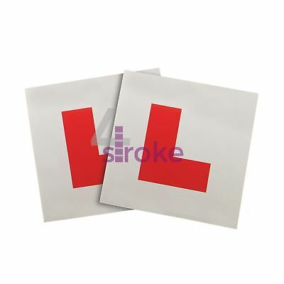 2Pce Magnetic 'L' Plates Learner Learning Driver Safety Driving Test