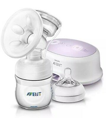Philips Avent Single Electric Natural Breast Milk Pump Scf332/01 New Sealed !!!