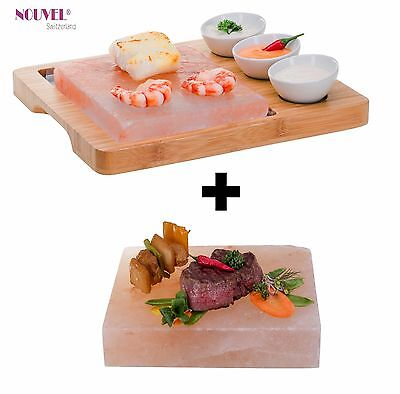 "Heisserstein /Hot Salt Stone Set Nouvel Swiss "" Gourmet Plus "" incl. Ersatzstein"