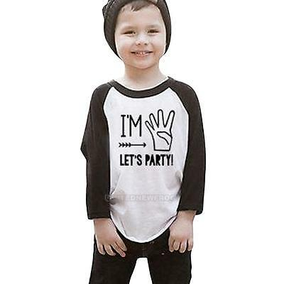 1-6T Toddler Kids Baby Boys Girls Letters Print T-shirt Long Sleeve Tops Clothes