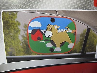 Auto Drive Collapsible Car Side Window Suction SunShade Shade 14x18 Puppy Love
