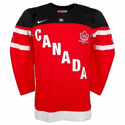 Team Canada IIHF Official 100th Anniversary Nike Red Hockey Jersey
