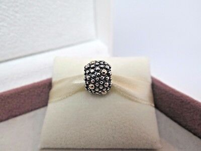 New w/Box RARE Pandora 2 tone w/14Kt Moss Oxi RETIRED Charm  #791225