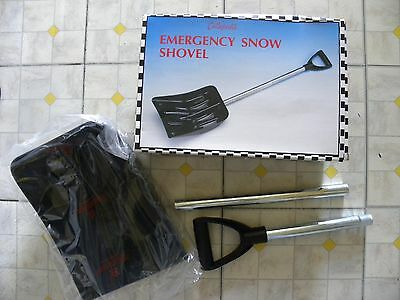 Vintage Collapsible Emergency Snow Shovel-Black Plastic with Silver Metal