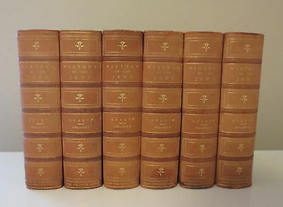 HISTORY OF THE JEWS By H. Graetz (First Edition c.1891, Complete 6 Volume Set)
