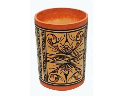 Tonia Fontenelle, Zuni Pottery, Cylinder Shaped, Handmade,9.5 in x 7 in
