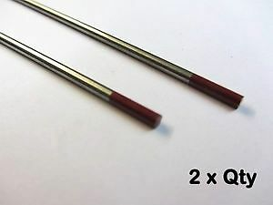 Tungsten Thoriated Tig Electrode (Red Tip) - 3.2 mm  Quantity:2 psc