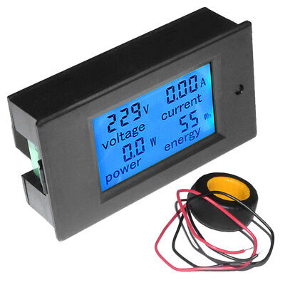 LCD AC 80-260V 0-100A Digital Voltage Volt Current Meter Panel Power Energy BY