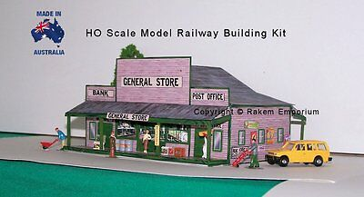 HO Scale Country General Store Post Office Bank Model Railway Building Kit GS1