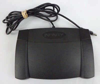 Infinity Usb In-Usb-2 Foot Pedal Computer Dictation Transcriber Office