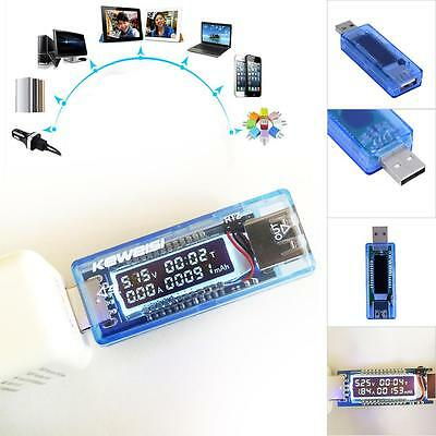 USB Charger Doctor Capacity time Current Voltage Detector Meter Tester BY