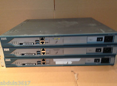 3x Cisco 2811 with 256MB DRAM & 128MB Flash with No Brackets CCNA CCIE Lab