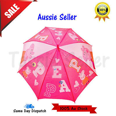 2018 Kids Girls Rain Water Proof Umbrella Raincoat  Sun shade Peppa Pig Gift