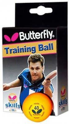 Butterfly Skills Table Tennis Balls Box of 6 Ping Pong Plastic orange tournament