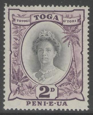TONGA SG76a 1949 2d BLACK & PURPLE MTD MINT